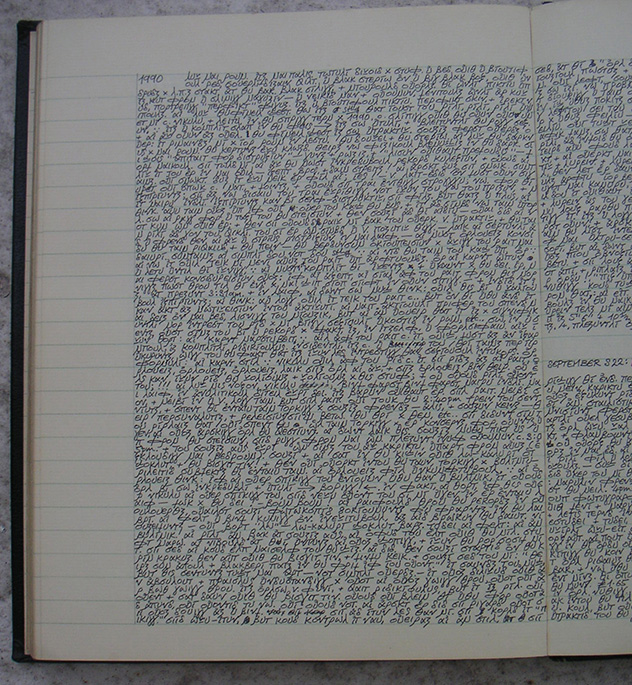 A Page from Natasha Holme's Diaries