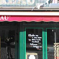 Au Bureau, Place Dalton, Boulogne. The only one of our cafés that is still there a quarter of a century later